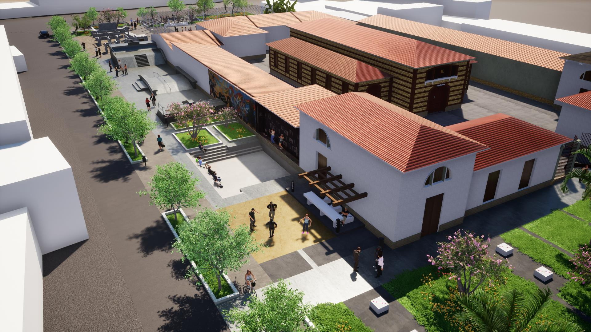Modelo del Parque Urbano Ollantay uno de los 40 sitios turísticos en la ciudad de Cochabamba.