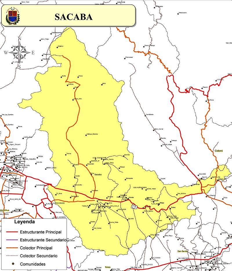 Mapa de Sacaba